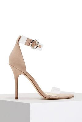 Lucite ankle strap sandal