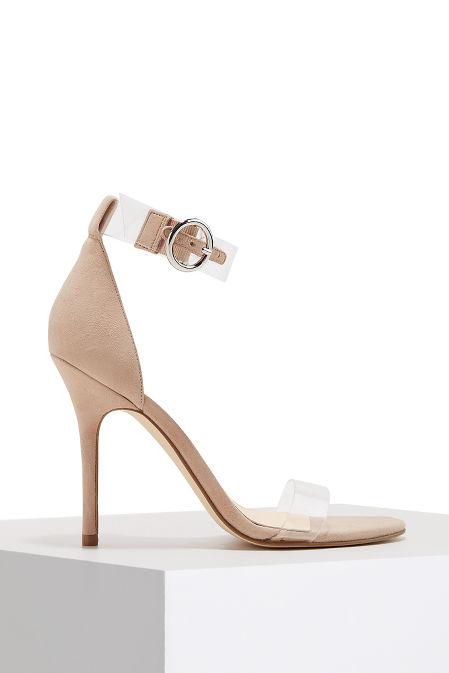 Lucite ankle strap sandal image