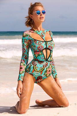 Amazonia long sleeve one-piece swimsuit