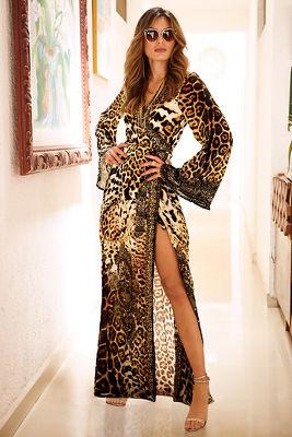 Animal robe maxi dress