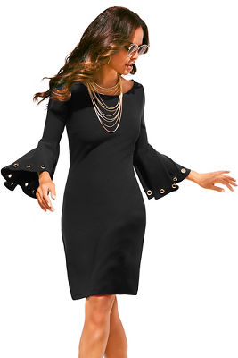 Beyond travel™ grommet flare dress