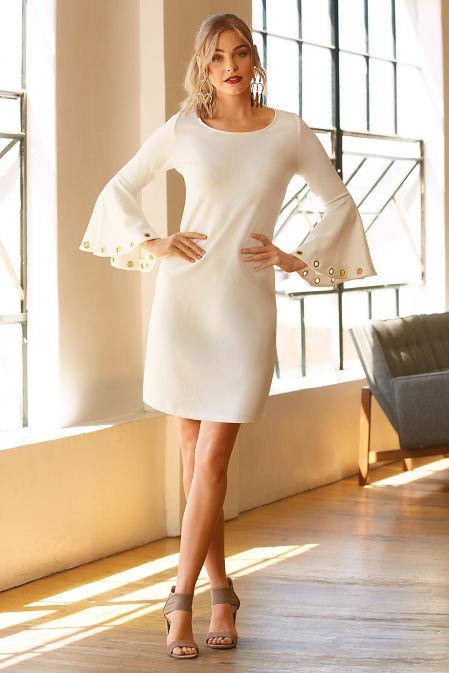 Beyond travel™ grommet flare dress image