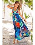 Crochet Tropical Halter Maxi Dress Photo