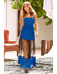 Lace And Mesh Strapless Maxi Dress Photo