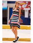 Stripe Fit-and-flare Dress Photo
