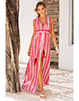 Stripe Tassel Tie Maxi Dress Photo