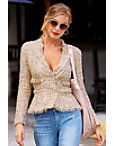 Frayed Trim Tweed Jacket Photo