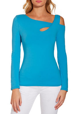 Display product reviews for So Sexy™ keyhole strap long-sleeve top