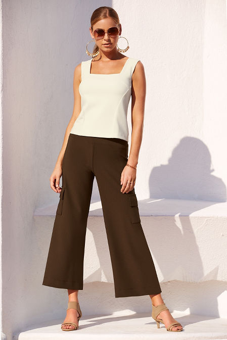 Beyond travel™ cargo crop pant image