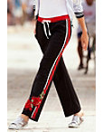 Embroidered Racer Stripe Track Pant Photo