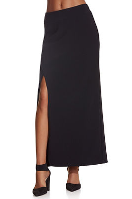 Beyond travel™ hi-slit maxi skirt