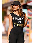 Dream Distressed Sport Tank Top Photo