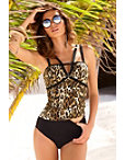 Animal Print Two-piece Tankini Photo