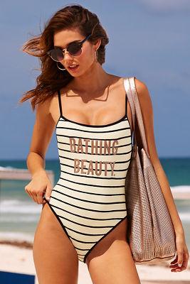 bathing beauty one-piece swimsuit