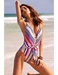 Cabana Stripe One-piece Swimsuit Photo