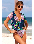 Exaggerated Ruffle One Piece Swimsuit Photo