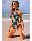 Floral Crossfront One-piece Swimsuit Photo