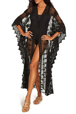 long lace kimono swim cover-up