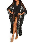 Long Lace Kimono Swim Cover-up Photo