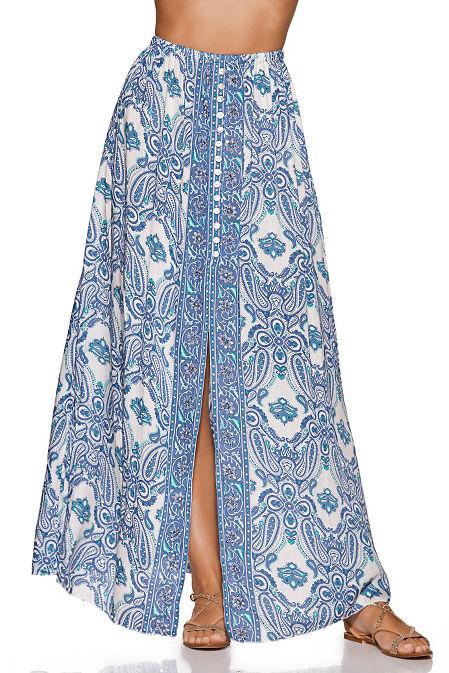 f48d70dffb Paisley Print Maxi Skirt   Boston Proper