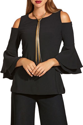 beyond travel&#8482 cold-shoulder two layer sleeve