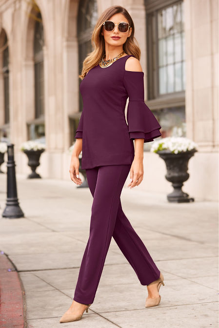 beyond travel™ cold-shoulder two layer sleeve image
