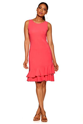 Beyond travel&#8482 double ruffle sleeveless dress