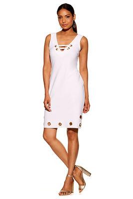 Beyond travel™ grommet lace-up dress