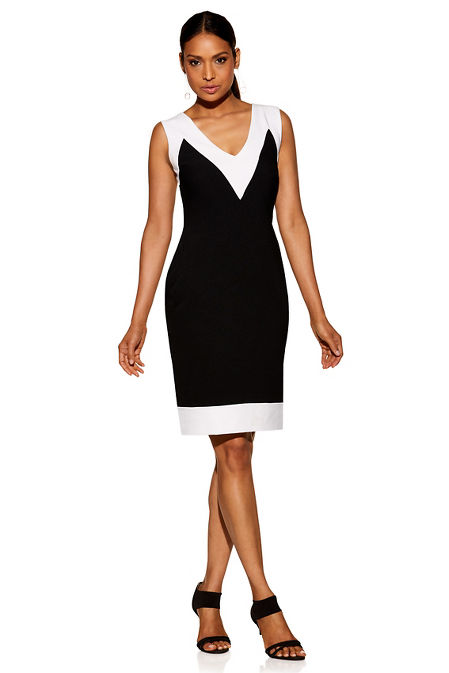Beyond travel™ sleeveless colorblock dress image
