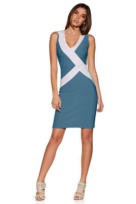 Beyond travel&#8482 asymmetrical colorblock dress