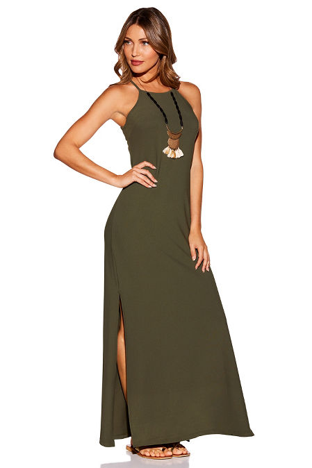 Beyond Travel High Neck Maxi Dress Boston Proper