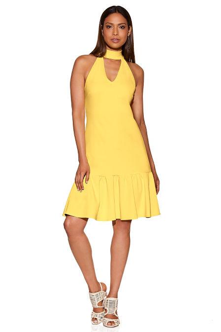 Beyond travel™ sleeveless choker dress image