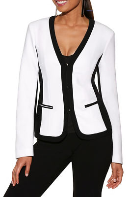 Display product reviews for Beyond travel™ colorblock blazer