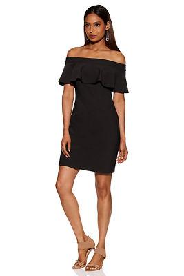 Beyond travel™ ruffle off-the-shoulder dress