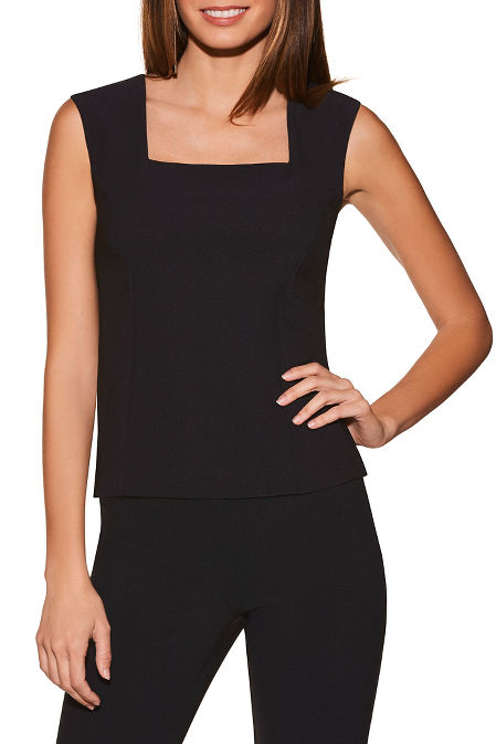Beyond travel™ sleeveless shell top image