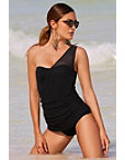 Mesh Overlay Swim Dress Photo