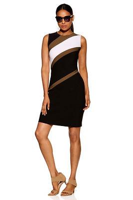 Beyond travel™ angled colorblock dress