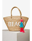 Graphic Fringe Beach Tote Bag Photo