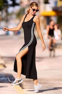 Racer stripe tank sport maxi dress