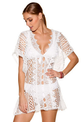 white lace swim cover-up
