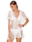 White Lace Swim Cover-up Photo