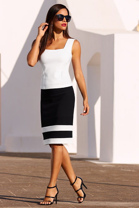 Beyond travel™ colorblock skirt image