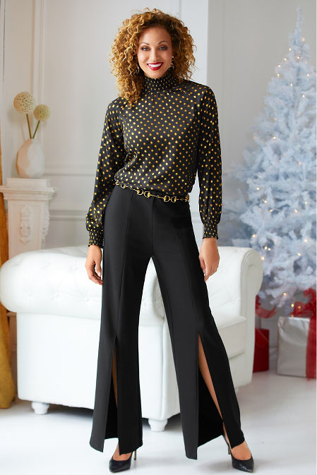 Beyond travel™ high waist slit pant image