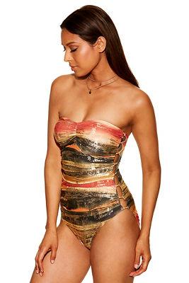 hardware bandeau one-piece swimsuit