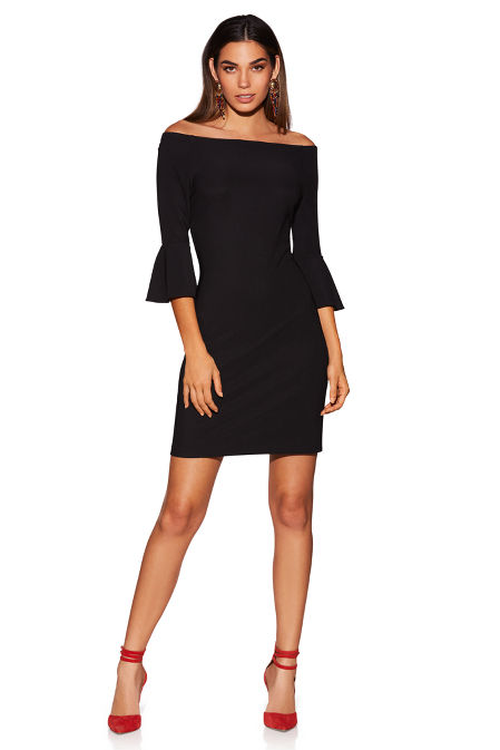 Beyond travel™ off-the-shoulder dress image