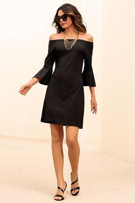 Beyond travel™ off-the-shoulder dress