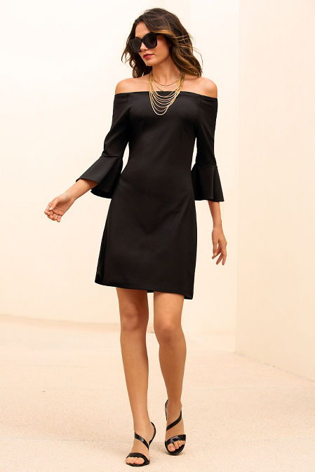 Beyond travel™ off-the-shoulder dress image