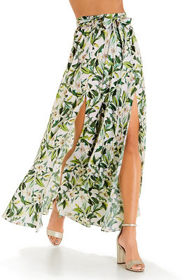 Floral blooms maxi skirt