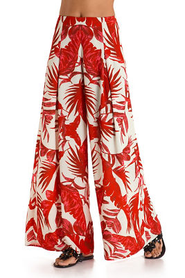 Tropical fern palazzo pant