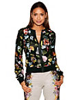 Floral Embroidered Sport Bomber Jacket Photo